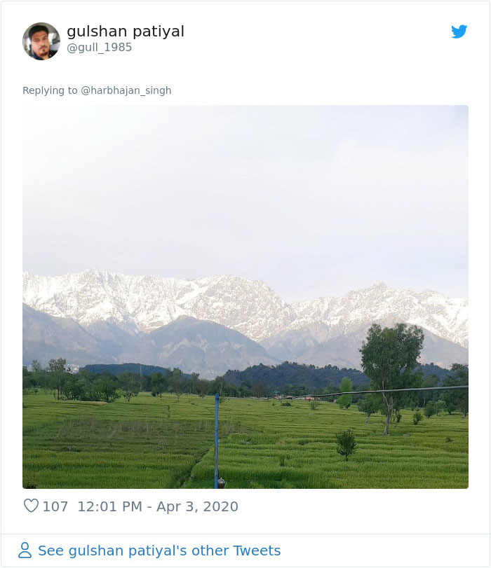 himalayas mountains coronavirus pollution levels drop