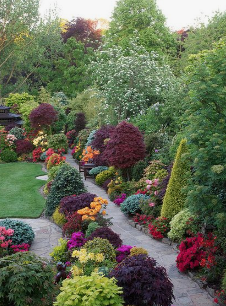 okrasná záhrada inšpirácia